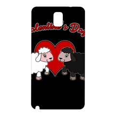 Valentines Day   Sheep  Samsung Galaxy Note 3 N9005 Hardshell Back Case by Valentinaart