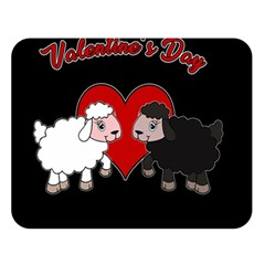 Valentines Day - Sheep  Double Sided Flano Blanket (large)  by Valentinaart