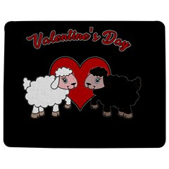 Valentines Day   Sheep  Jigsaw Puzzle Photo Stand (rectangular) by Valentinaart