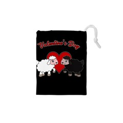Valentines Day   Sheep  Drawstring Pouches (xs)