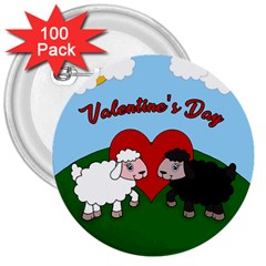 Valentines Day   Sheep  3  Buttons (100 Pack)  by Valentinaart