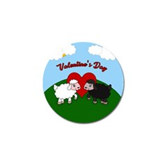 Valentines Day   Sheep  Golf Ball Marker (4 Pack) by Valentinaart