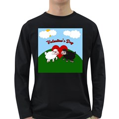 Valentines Day - Sheep  Long Sleeve Dark T-shirts by Valentinaart