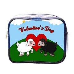 Valentines Day - Sheep  Mini Toiletries Bags by Valentinaart