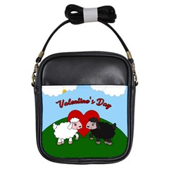 Valentines Day   Sheep  Girls Sling Bags by Valentinaart