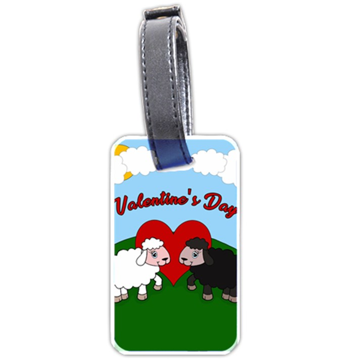 Valentines day - Sheep  Luggage Tags (One Side)