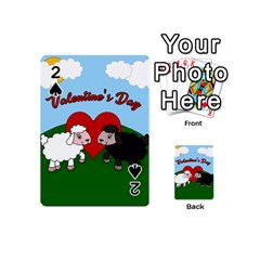 Valentines Day   Sheep  Playing Cards 54 (mini)  by Valentinaart