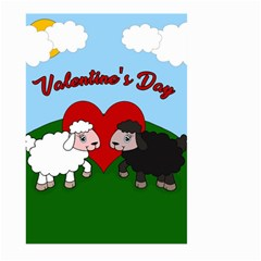 Valentines Day   Sheep  Large Garden Flag (two Sides) by Valentinaart