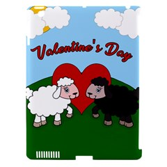 Valentines Day   Sheep  Apple Ipad 3/4 Hardshell Case (compatible With Smart Cover) by Valentinaart