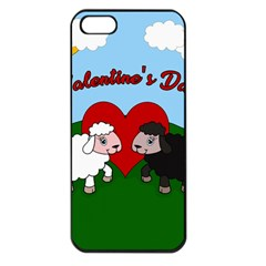 Valentines Day   Sheep  Apple Iphone 5 Seamless Case (black)