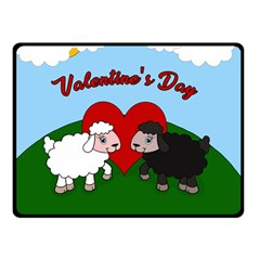Valentines Day   Sheep  Double Sided Fleece Blanket (small)  by Valentinaart