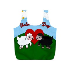 Valentines Day   Sheep  Full Print Recycle Bags (s)  by Valentinaart