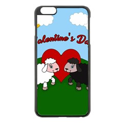 Valentines Day   Sheep  Apple Iphone 6 Plus/6s Plus Black Enamel Case by Valentinaart