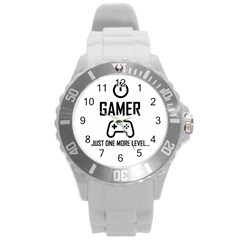 Gamer Round Plastic Sport Watch (l) by Valentinaart
