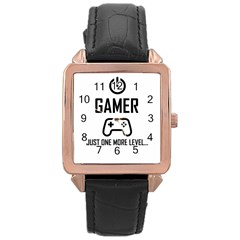Gamer Rose Gold Leather Watch  by Valentinaart