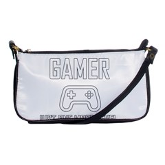 Gamer Shoulder Clutch Bags by Valentinaart