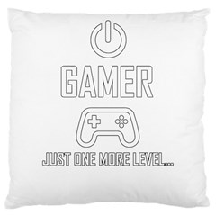 Gamer Large Cushion Case (one Side) by Valentinaart