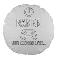 Gamer Large 18  Premium Round Cushions by Valentinaart