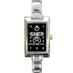 Gamer Rectangle Italian Charm Watch by Valentinaart