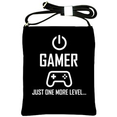 Gamer Shoulder Sling Bags by Valentinaart