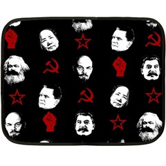 Communist Leaders Fleece Blanket (mini) by Valentinaart