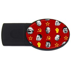 Communist Leaders Usb Flash Drive Oval (2 Gb) by Valentinaart