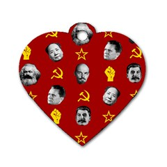 Communist Leaders Dog Tag Heart (one Side) by Valentinaart
