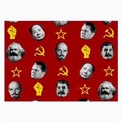 Communist Leaders Large Glasses Cloth (2 Side) by Valentinaart