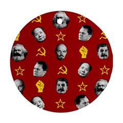 Communist Leaders Round Ornament (two Sides) by Valentinaart