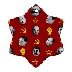 Communist Leaders Ornament (snowflake) by Valentinaart