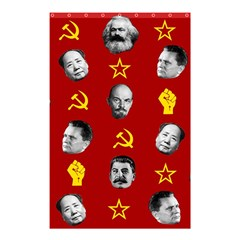 Communist Leaders Shower Curtain 48  X 72  (small)  by Valentinaart