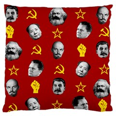 Communist Leaders Large Flano Cushion Case (one Side) by Valentinaart