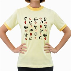 Communist Leaders Women s Fitted Ringer T Shirts by Valentinaart