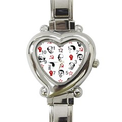 Communist Leaders Heart Italian Charm Watch by Valentinaart