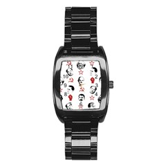 Communist Leaders Stainless Steel Barrel Watch by Valentinaart