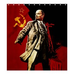 Lenin  Shower Curtain 66  X 72  (large)  by Valentinaart