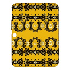 Ornate Circulate Is Festive In Flower Decorative Samsung Galaxy Tab 3 (10 1 ) P5200 Hardshell Case  by pepitasart