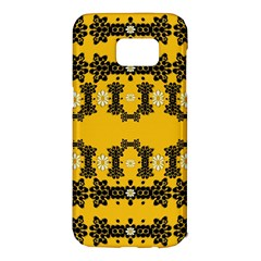 Ornate Circulate Is Festive In Flower Decorative Samsung Galaxy S7 Edge Hardshell Case by pepitasart