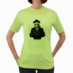 Rorschach Panda Women s Green T Shirt