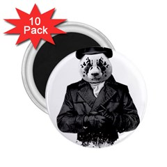 Rorschach Panda 2 25  Magnets (10 Pack)  by jumpercat