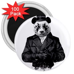 Rorschach Panda 3  Magnets (100 Pack) by jumpercat