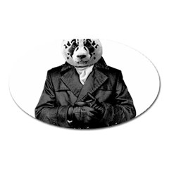 Rorschach Panda Oval Magnet by jumpercat
