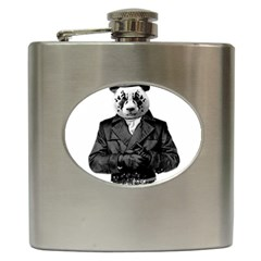 Rorschach Panda Hip Flask (6 Oz) by jumpercat