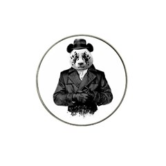 Rorschach Panda Hat Clip Ball Marker by jumpercat