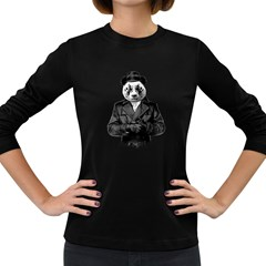 Rorschach Panda Women s Long Sleeve Dark T Shirts