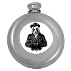 Rorschach Panda Round Hip Flask (5 Oz) by jumpercat