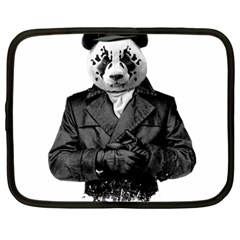 Rorschach Panda Netbook Case (large) by jumpercat
