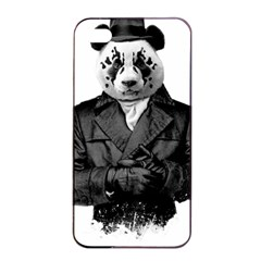 Rorschach Panda Apple Iphone 4/4s Seamless Case (black) by jumpercat