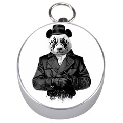 Rorschach Panda Silver Compasses by jumpercat