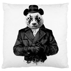 Rorschach Panda Large Flano Cushion Case (two Sides) by jumpercat